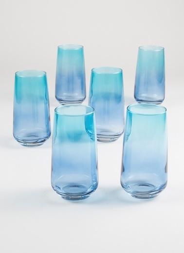 Rakle 470 cc Paradise 6'lı Meşrubat Bardağı Seti Kobalt-Mavi Mavi